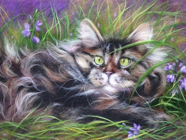Мехопузие... художник Ксения Мороз. картины из шерсти