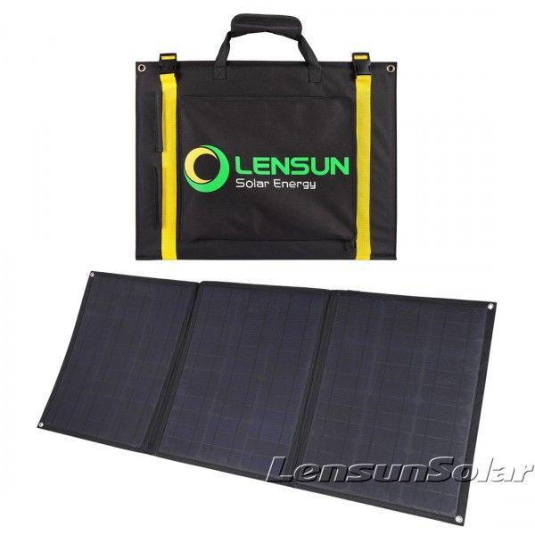 Lensun 100w 12v Foldable Flexible Solar Panel With Mc4 Connector Ultralight Only 3 2kgs Flexible Solar Panels Solar Panels Solar