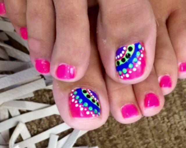 Loving my #summer toenail designs for #puntacana Thanks Michael at #bellagio - Top 25+ Best Summer Toenail Designs Ideas On Pinterest Toe