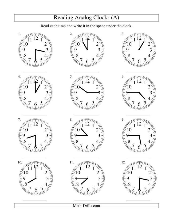 Best 25+ Clock worksheets ideas only on Pinterest