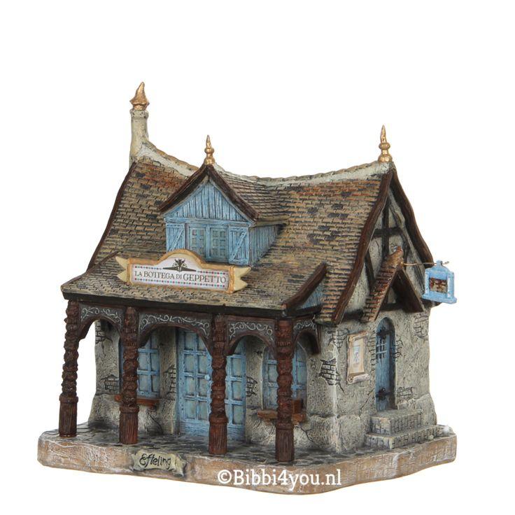 Efteling , miniatuur, huis van gepetto , collectie 2017, Kerstdorp
