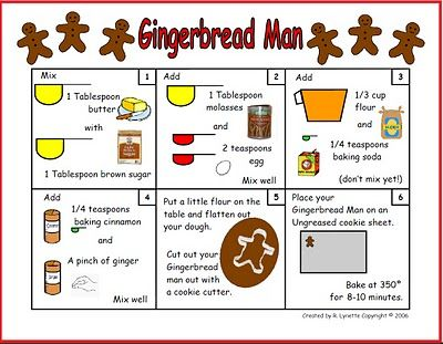 Gingerbread Man Recipe in Pictures Pinned by #PediaStaff. Visit ht.ly/63sNt for all our pediatric therapy pins
