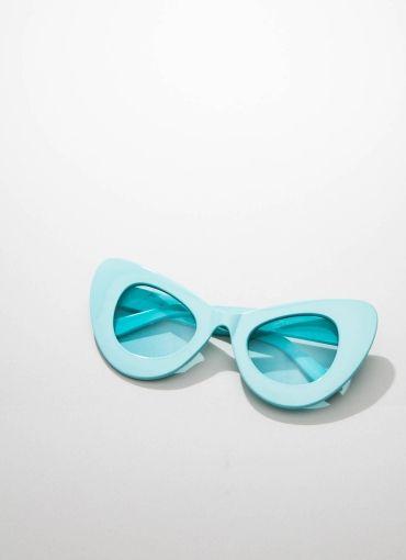 Valley City X Zerouv Aubrey Oversize Sunglasses - Turquoise Green