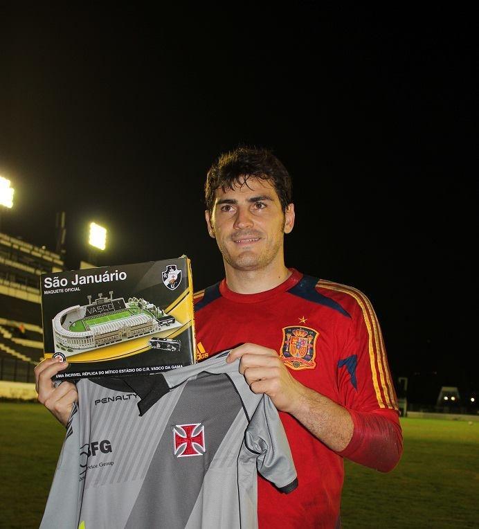"""Iker Casillas en el estadio del Vasco de Gama """" Sao Januario"""""""