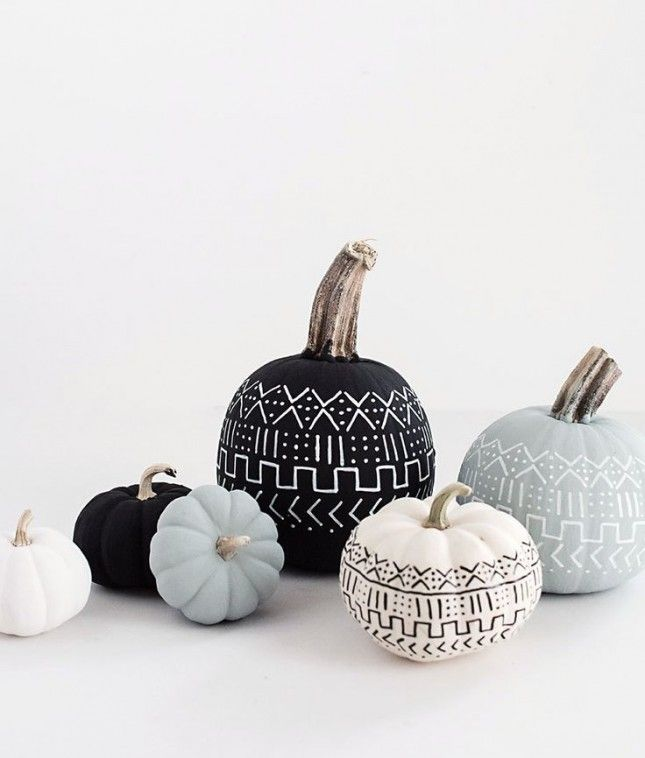 Upgrade your pumpkins with chalkboard paint this Halloween.