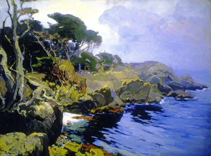 'Mist-Veiled Days, Monterey', Oil On Canvas by Franz Bischoff (1864-1929, Austria)