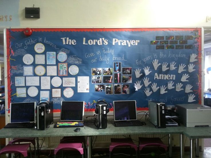 Classroom Decorating Themes Ideas ~ Lord s prayer display art and re week my classroom