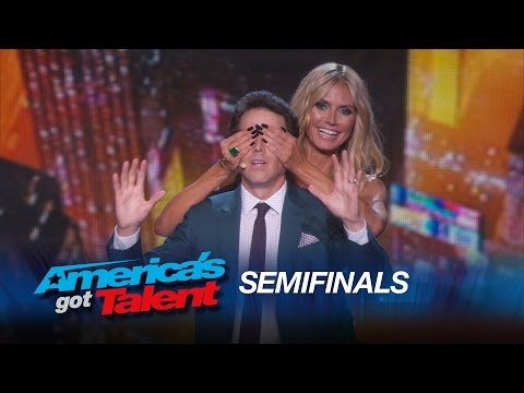 Oz Pearlman: Mentalist Performs Magic on Heidi Klum and Howard Stern - America's Got Talent 2015 - YouTube