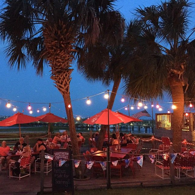 Creek Ratz, Murrells Inlet, South Carolina - for that casual waterfront dining experience with a relaxing tropical atmosphere - click on the pin for more info and additional waterfront dining in the Myrtle Beach, SC area. - Photo via Instagram by @peytonsmusic)