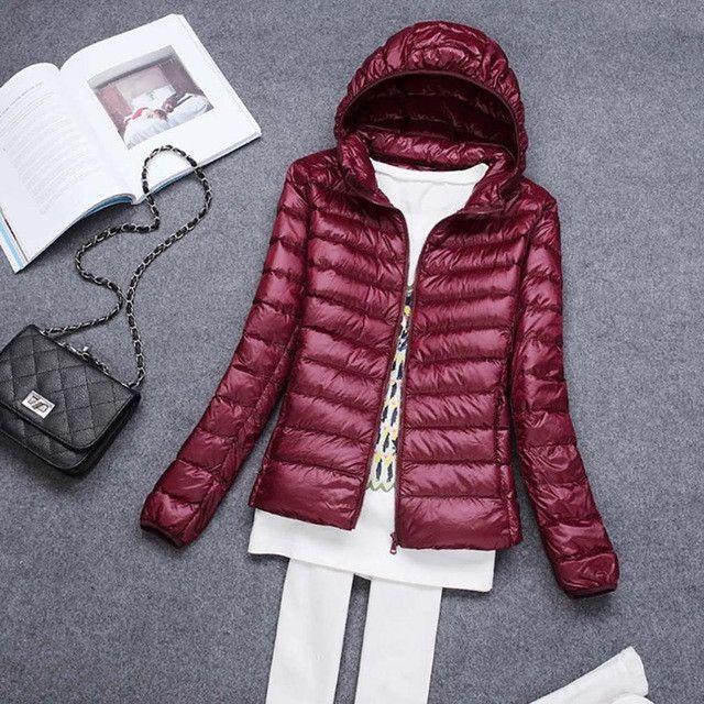 Tengo Brand Spring Autumn Women Parka Ultra Light Down 90% White Duck Down Jacket Hooded Coat Women's Parka Down 11 colors