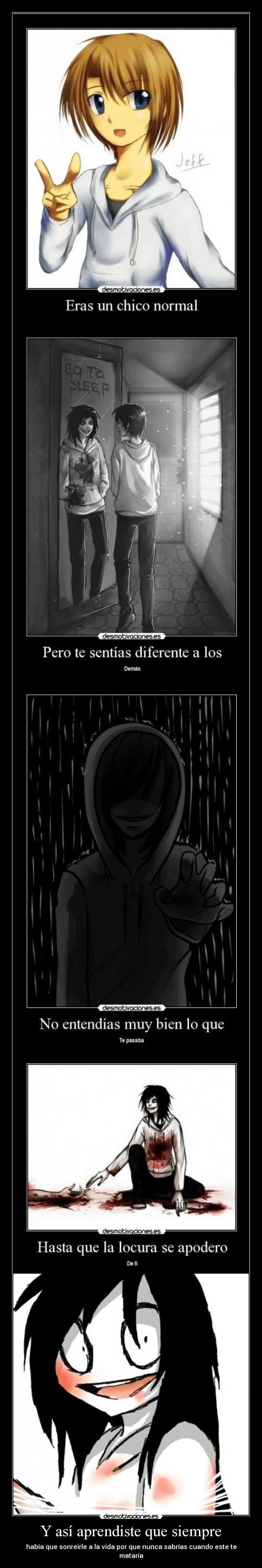 carteles jeff the killer desmotivaciones