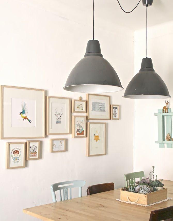 The matching frames, the grey light hangings, the succulents as the centerpiece! EN CASA DE FAUNA Y FLORA : LUA NORD