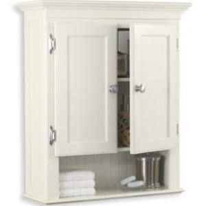 Photo Gallery On Website Buy Fairmont Wall Mounted Cabinet in Ivory from at Bed Bath u Beyond This Fairmont Wall Mounted Cabinet features a white finish and brushed nickel hardware