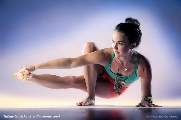 Skandasna as an arm balance? Not sure what to call this but Tiffany makes it look really good :)