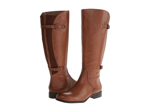 Naturalizer Jamison Wide Shaft Banana Bread Wide Shaft Leather - Zappos.com Free Shipping BOTH Ways