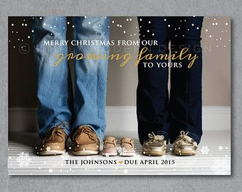 holiday card christmas card pregnancy by SimplyModernDesignx