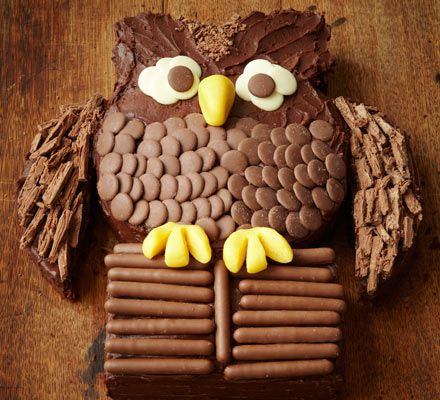 Chocolate owl cake recipe. Apparently I have to make this for my girl's birthday. No pressure then!