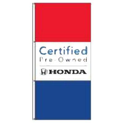 Certified Pre-Owned Honda Dealer Drape Banner Flag