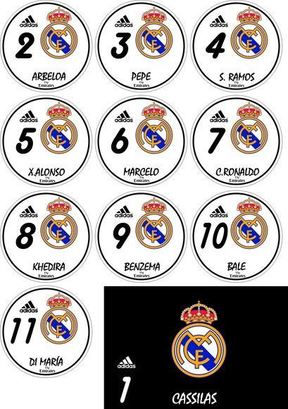 Time de botão do Real Madri 2013 | Arte em 1 toque | Elo7