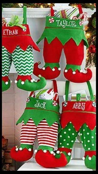 Lutin de Noël pantalon en jersey Jingle Bell par SewBlessedEmb1