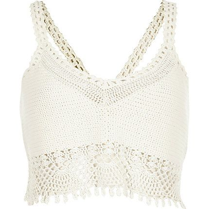 White crochet bralet top €45.00