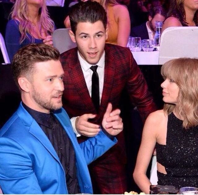 Taylor Swift nick jonas and justin timberlake
