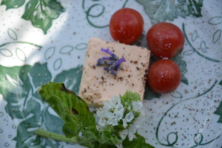 Basil tomato and caprino cheese
