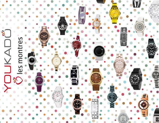 Une montre de perdue ?10 de retrouvées ! Et aucune raison de perdre son temps ! Toutes les plus belles marques créatrices de montres et de bijoux sont présentes chez Youkado. Elles vous présentent leurs dernières tendances… Elite, Ice-Watch, Esprit, Le Temps des Cerises, Festina, Beuchat, Fossil, Axcent, Guess, Hush Puppies, Kenneth Cole, Dolce Gabbana, Citizen, Michael Kors, Versace, Lotus, Thierry Mugler, Marc Jacobs… Le 29 mai 2013, dans le coffret Tendance Femme.
