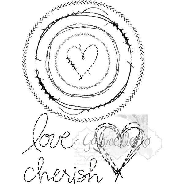 "49 & Market Clear Stamps 4""X6"" - Gabi's Circle Stitch"