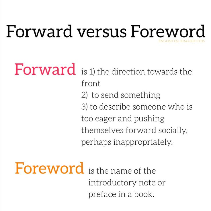 Tricky English Foreword and forward