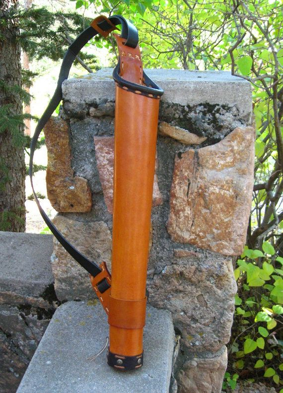warriors touch Elven Mage quiver in leather by twistedtreestudio, $85.00