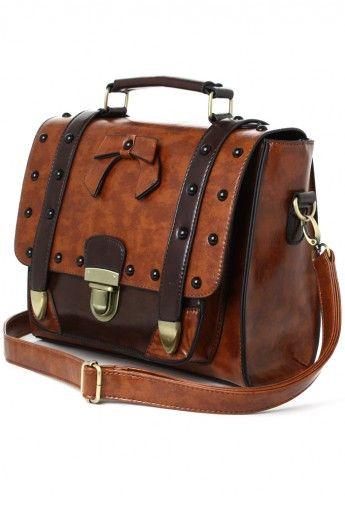 Studs Satchel Bag