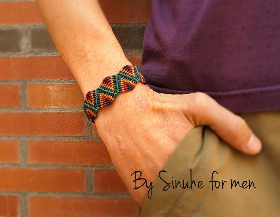Macrame pulsera para hombre joyas hombre brazalete por BySinuhe