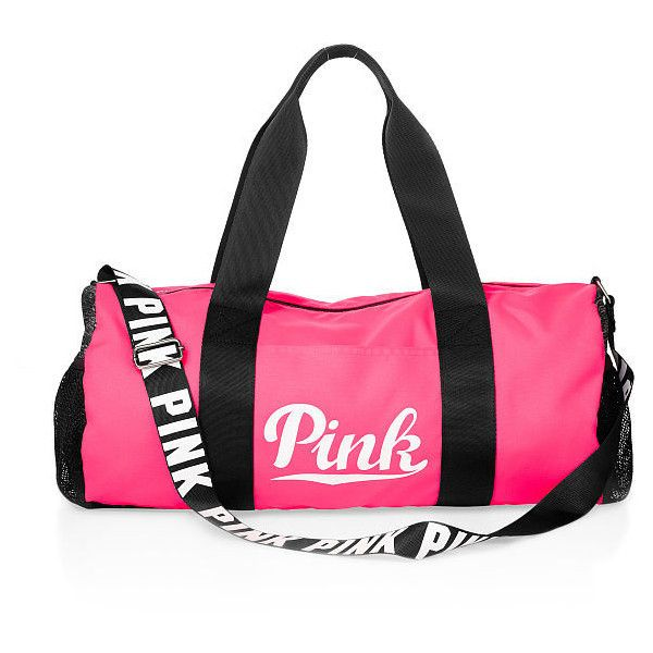 PINK Duffle Bag (£19) ❤ liked on Polyvore featuring bags, luggage and print