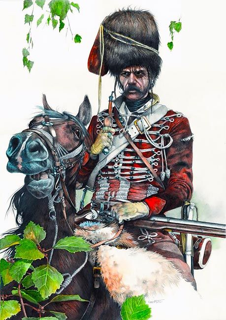 """Varazdiner Hussar, Seven Years War"", by Zvonimir Grbasic."