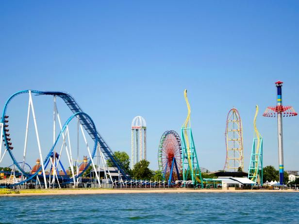 "Cedar Point, Sandusky, Ohio Touting itself as the roller coaster capital of the world, Cedar Point's 17 coasters will ensure you're riding all day. Enthusiastic reader Alicia Goettemoeller describes the park as an ""adrenaline junkie's paradise,"" while reader Nick Schuyler says it is ""built for grown-up kids.""     Map data ©2016 Google Terms of Use    1 Cedar Point-  Amusement Parks That Will Make You Squeal"