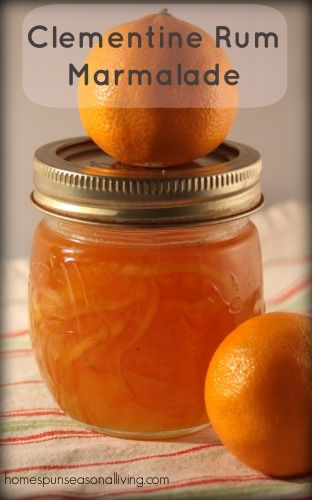 Clementine Rum Marmalade - a tasty twist on traditional marmalade to make the most of citrus season.