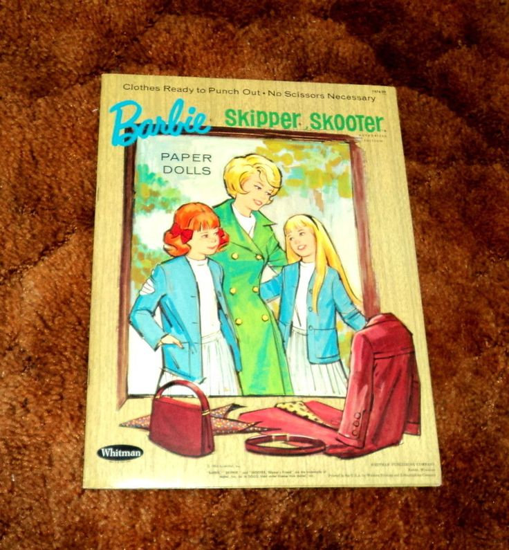 1966 Barbie Skipper and Skooter Paper Doll Book Complete and Uncut by Whitman | eBay