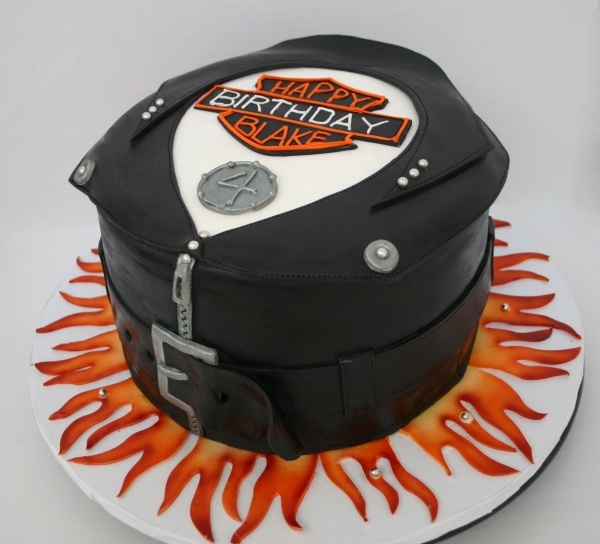 Harley Davidson jacket cake Fancy Fantasy CAKES Pinterest Groom