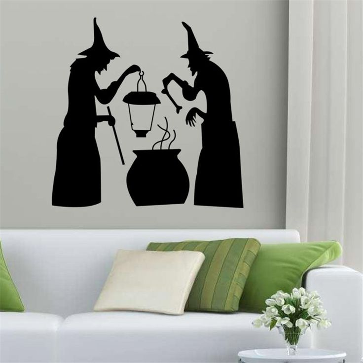 Halloween Sibyl Decorations for Home Vinilos Paredes Pegatinas Poster for Bathroom Wall Stickers Home Decor Muursticker