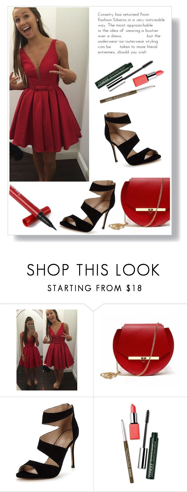 """""""Dream dressy 71"""" by aidaaa1992 ❤ liked on Polyvore featuring Angela Valentine Handbags, Carvela and Clinique"""