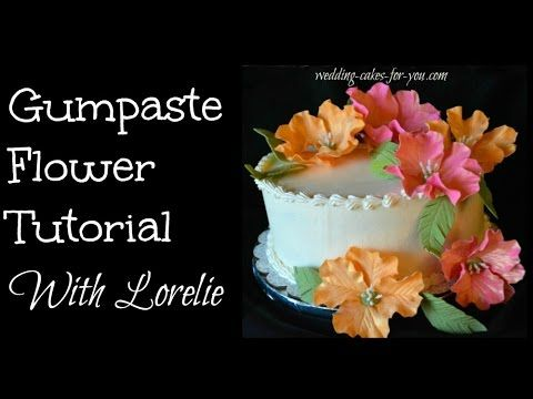 Gumpaste Flower Tutorial with Lorelie http://www.wedding-cakes-for-you.com/gumpaste-flowers.htm In this video Lorelie shares with you how to make gumpaste fa...