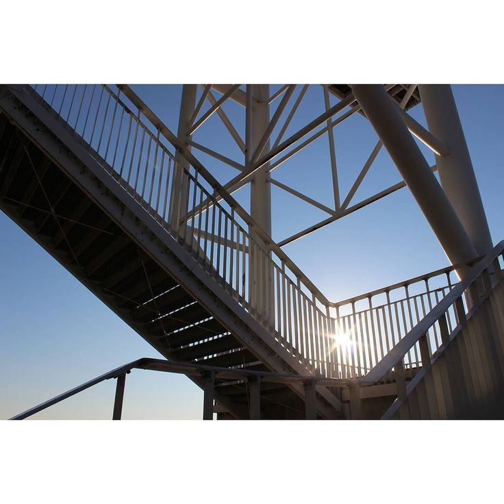 platforma widokowa w Trzęsaczu  #holiday #2016 #trzęsacz #poland #modern #urban #sea #sun #summer #view #steel #viewing #platform #20m #architecture #beach #baltic #instaarchitecture #under #fromthebottom