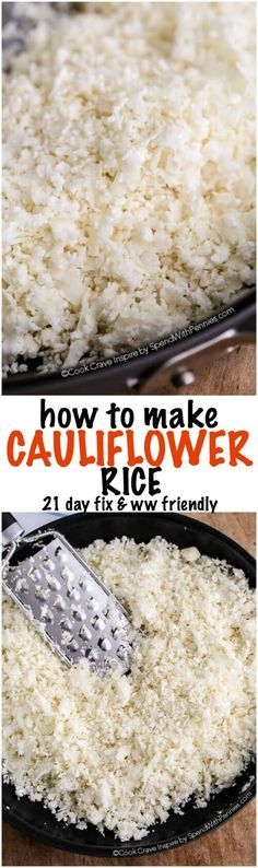If you're looking for a delicious, naturally low carb and low calorie rice substitution, you'll love Cauliflower Rice! No special tools needed and it's quick to make. Weight Watchers friendly, paleo and 21 day fix approved!