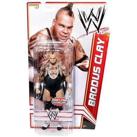 WWE Wrestling Basic Series 15 Brodus Clay Action Figure #17, Multicolor