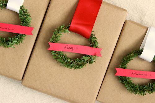 DIY How to make Mini Wreath Gift Tags