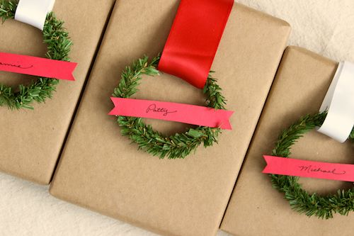 DIY How to make Mini Wreath Gift Tags