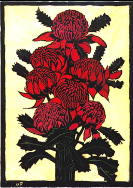 Lino Cut Print : Margaret Preston