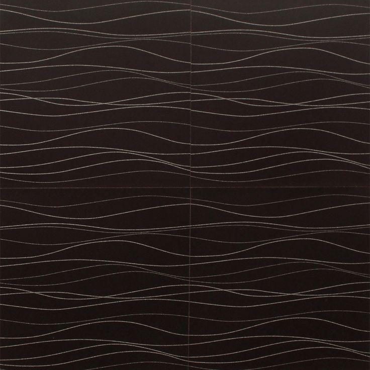 Designer Accent Cork Panel - Black Rivers