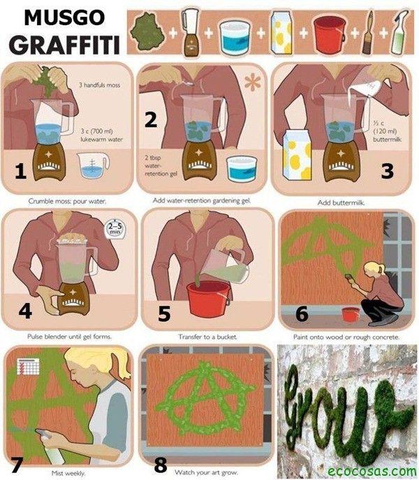 grafiti de musgo instrucciones
